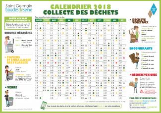Calendrier 2018 de la Collecte des déchets